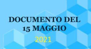 Documento 15 Maggio 2021